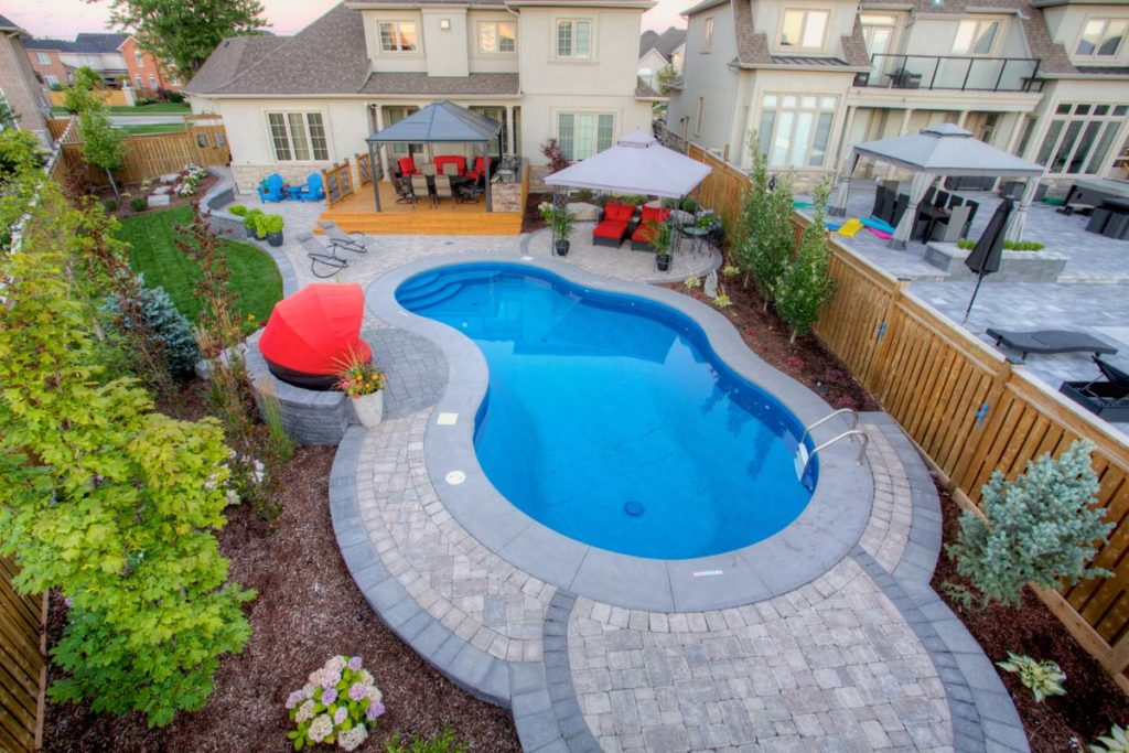Overview of backyard designed by Jeff's Outdoor